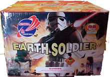 Fireworks - 500g Firework Cakes - EARTH SOLDIER