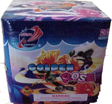 Fireworks - 200G Multi-Shot Cake Aerials - GOLDEN ROSE