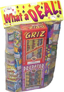 Fireworks - Assortments - These fireworks packs provide a wide variety of pyrotechnic effects all in one package! - WHAT A DEAL