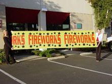 Fireworks - Fireworks Promotional Supplies - PLASTIC FIREWORKS SIGNS