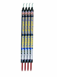 Fireworks - Roman Candles - Dominator 5 BALL STARLIGHT CANDLE