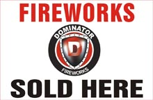 Fireworks - Fireworks Promotional Supplies - 4ft x 8ft Sign