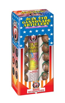 Fireworks - Reloadable Artillery Shells/Mortars Fireworks For Sale- Relodable Kits contain a mortar tube and several shells that are loaded and fired one at a time. - July 4th Cannonade Artillery - Artillery Shells