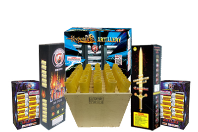 Fireworks - Reloadable Artillery Shells - Mortar Mayhem Asst