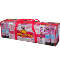 Fireworks - 200G Multi-Shot Cake Aerials - Gender Reveal - Nighttime Assortment - Girl