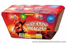 Fireworks - 500g Firework Cakes - Screaming Dragons - 500g Cake