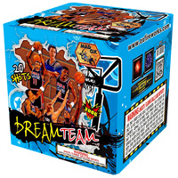 Fireworks - 200G Multi-Shot Cake Aerials - Dream Team 200g Cake