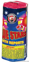Fireworks - 200G Multi-Shot Cake Aerials Store - Buy fireworks cake for sale on-line - Blue Stars w/ reports