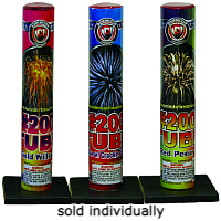 Fireworks - Single Shot Aerials - these pre-loaded artillery shells produce the biggest bursts available. - No. 200 Mortar Tube
