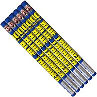 Fireworks - Roman Candles For Sale - Each tube contains multiple shots of stars-firecrackers-hummers-spinners and more! - BLUE THUNDER 10 BALLS