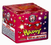 16 Shot Happy Fireworks For Sale - 200G Multi-Shot Cake Aerials