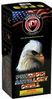 Fireworks - Reloadable Artillery Shells/Mortars Fireworks For Sale- Relodable Kits contain a mortar tube and several shells that are loaded and fired one at a time. - Dominator Black Box Artillery-12 Shots