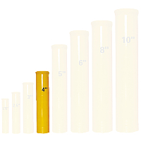 Fireworks - Equipment & Supplies - Fiberglass Mortar Tubes-Mortar Racks-E-match Blanks-Comet Pumps-Crossette Pumps-Chemical Mixing Screens-and much more.  All your needs for homemade fireworks. Non-explosive so no min order and lower shipping rates! - 4in Fiberglass Mortar w/ Plug