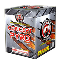Fireworks - 200G Multi-Shot Cake Aerials Store - Buy fireworks cake for sale on-line - Concept Pyro