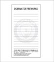 Fireworks - Promotional Supplies- Fireworks Posters-Fireworks t-Shirts-Fireworks Video-Fireworks How-To-Fireworks Banners-and more! Non-explosive so no min order and lower shipping rates! - Dominator Memo Pads