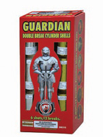 Fireworks - Reloadable Artillery Shells/Mortars Fireworks For Sale- Relodable Kits contain a mortar tube and several shells that are loaded and fired one at a time. - Guardian - Double Break - Artillery Shells