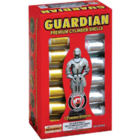 Fireworks - Reloadable Artillery Shells/Mortars Fireworks For Sale- Relodable Kits contain a mortar tube and several shells that are loaded and fired one at a time. - Guardian - 12 shot - Artillery Shells