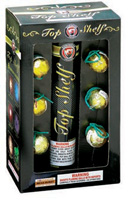 Fireworks - Reloadable Artillery Shells/Mortars Fireworks For Sale- Relodable Kits contain a mortar tube and several shells that are loaded and fired one at a time. - Top Shelf - 6 shot - Artillery Shells