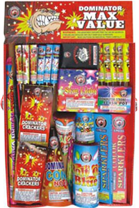 Fireworks - Assortments - These fireworks packs provide a wide variety of pyrotechnic effects all in one package! - Max Value Tray Assortment