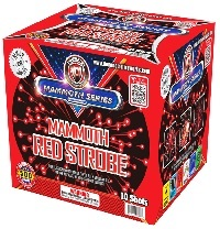 Mammoth Strobe-Red Fireworks For Sale - 500g Firework Cakes