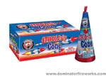 Fireworks - Cones or Cone fountains are a type of Firework that sprays colorful sparks and often loud crackling sparks. - 8in 4TH Of July Cone Fountain
