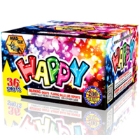 36 Shot Happy Fireworks Cake Fireworks For Sale - 200G Multi-Shot Cake Aerials