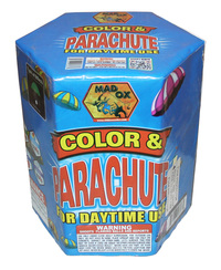 19 Shot Daytime Color Smoke & Parachute Cake Fireworks For Sale - Parachutes