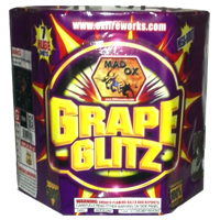 Grape Glitz Fireworks For Sale - 500g Firework Cakes