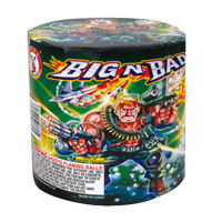 Big N Bad Fireworks For Sale - 200G Multi-Shot Cake Aerials
