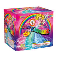 Color Cascade Fireworks For Sale - 500g Firework Cakes