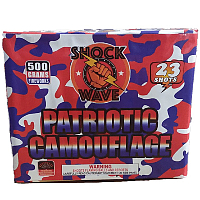 PATRIOTIC CAMOUFLAUGE Fireworks For Sale - 500g Firework Cakes