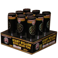 Fireworks - 500g Firework Cakes - 3 Giant Willow with Color Tips