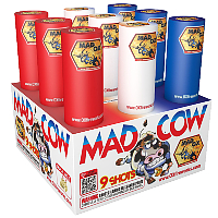 Fireworks - 200G Multi-Shot Cake Aerials - Mad Cow Fireworks Cake