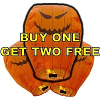 Sky Lanterns-Pumpkin-Buy One Get Two Fireworks For Sale - Novelties