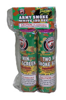 Army Smoke White 120 Sec.2 Pack Fireworks For Sale - Smoke Items